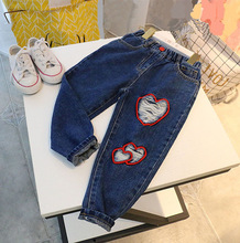 Kids Jeans 2020 Spring Autumn New Baby Girls Cartoon Holes Jeans Pants Casual Boys Denim Trousers Children Clothes 3-8 Years budingxiong 2018 brand children sets fashion ripped kids jeans unisex clothes spring autumn children s wear boys girls jeans