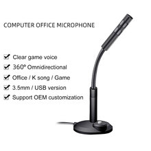 Mini Desktop USB Microphone for Computer PC Laptop Notebook With Flexible Stand Studio Speech Recording Condenser Microphone usb studio condenser supercardiod samson c01u pro microphone with tripod stand