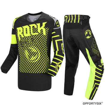 ROCK BIKER New Motocross Gear Motocross Jersey And Pants BMX DH MX Off-Road Motorcycle Suit Dirt Bike Cycling Clothes Combo Sets
