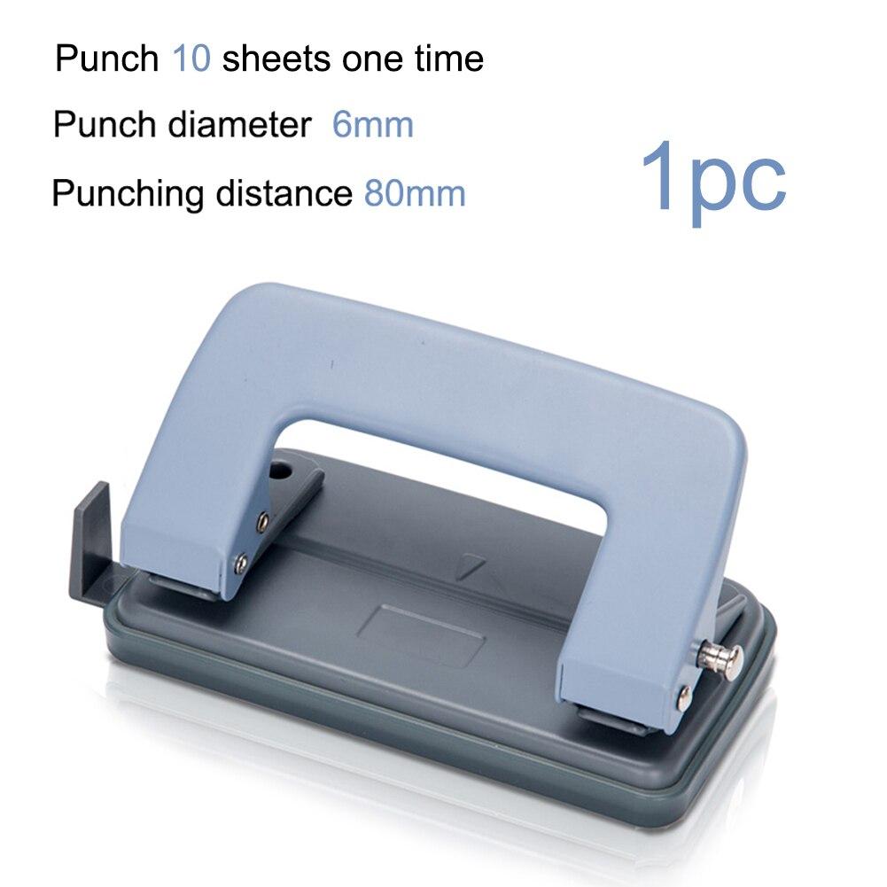 2 отверстия бумажный Дырокол машина DIY необходимые аксессуары для печати бумажный Дырокол ремесло инструмент - Цвет: blue