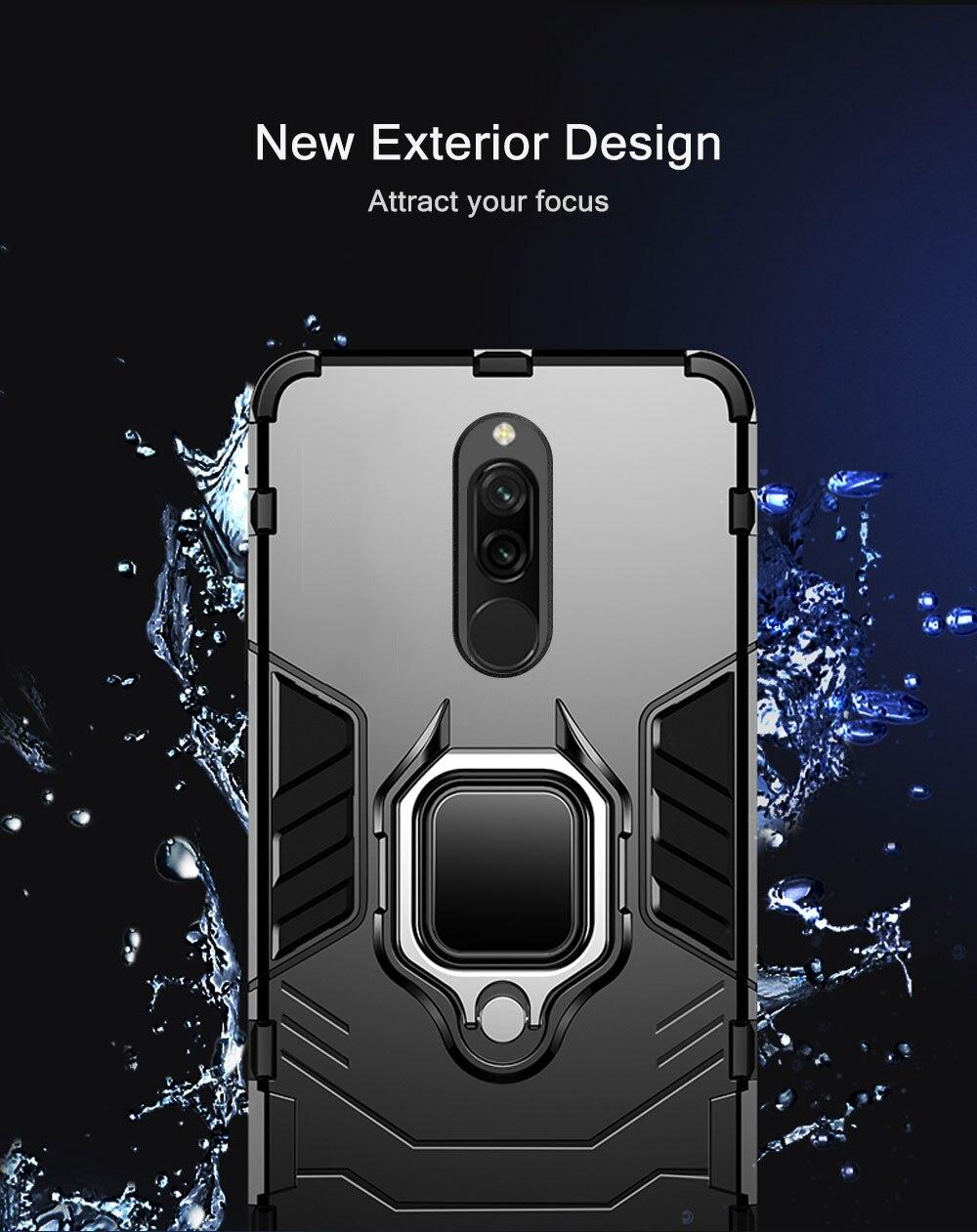 H725bc84233a44b2f8150000cd96185d17 Armor Case for Redmi 8 8A Case Magnetic Car Phone Holder TPU+PC Bumper Cover on for Xiaomi Redmi 8 8A 8 A Global Version Case