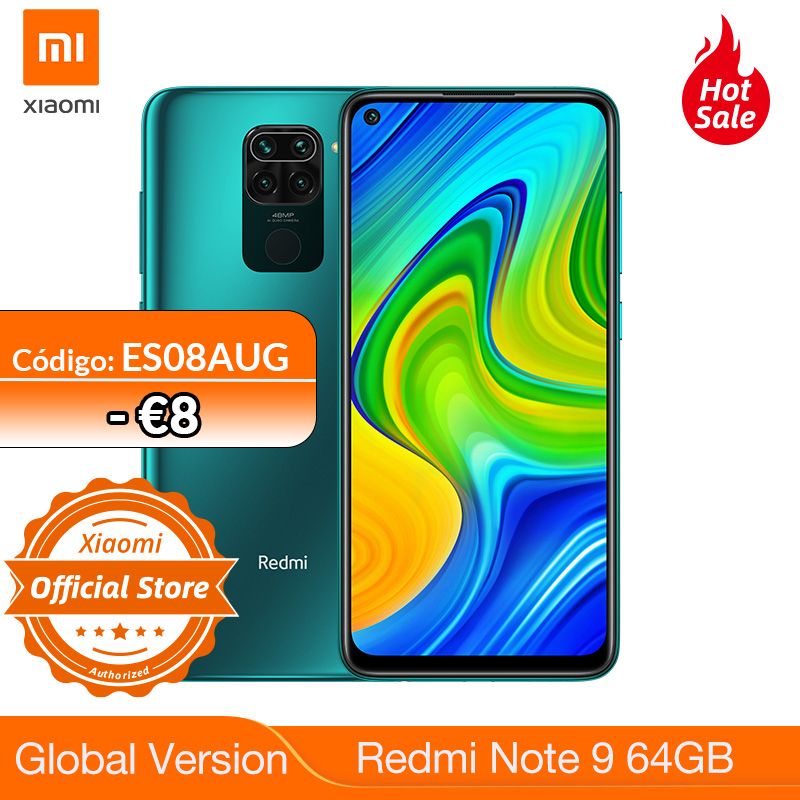 New Global version Redmi Note 9 64GB 3GB RAM Smartphone Helio G85 5020mAh battery 18W fast Charging 6.53