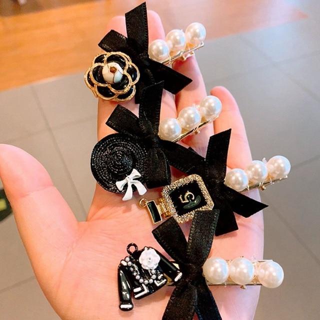 Фото искусственные жемчужные заколки для волос с бахромой винтажная цена