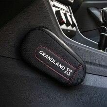 Pu Leather Knee Pad handrail pad Interior Car Accessories For Opel Grandland X