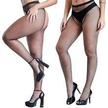 Sexy preto meias abertas virilha fishnet meia-calça feminino erótico fishnet meia meias eróticas lingerie malha meias