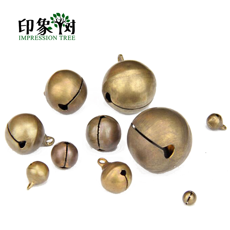 1Pc 6/8/10/12/14/16/18/20/25/28mm Sounding Copper Nickel Bell Antique Brozen Bell For DIY Jewelry Finding 500