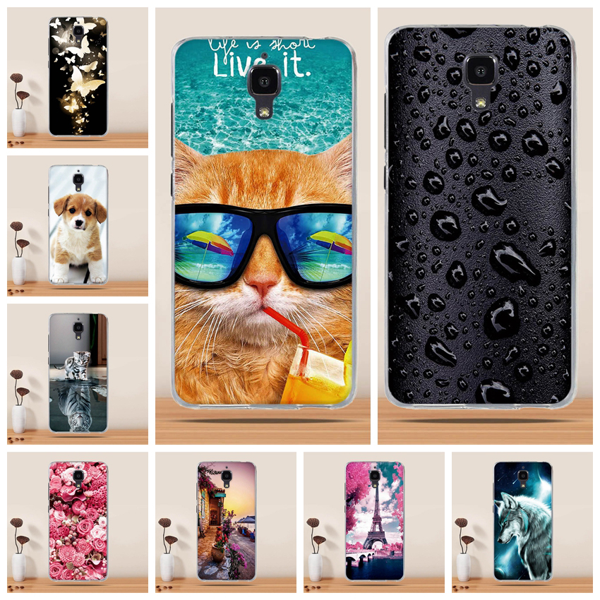 Soft TPU Case For Xiaomi Mi 4 Case Silicone Cover for Xiaomi Mi4 Case Cover Capas Coque fundas For Xiaomi 4 M4 Mi 4 Mi4 Cover image
