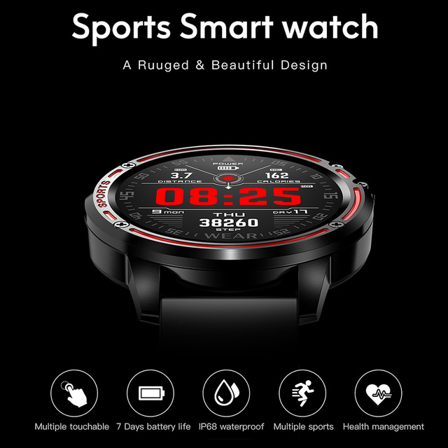 Hamswan Sports Smart Watch Men With ECG+PPG Blood Pressure Heart Rate Sports Fitness IP68 Waterproof Fitness Tracker Smartwatch