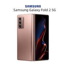 Новый оригинальный Samsung Galaxy Z Fold2 Dual-mode 5G смартфон 7,6 +% 22 Snapdragon 865% 2B 120Hz Adaptive Screen Folding Mobile Phone