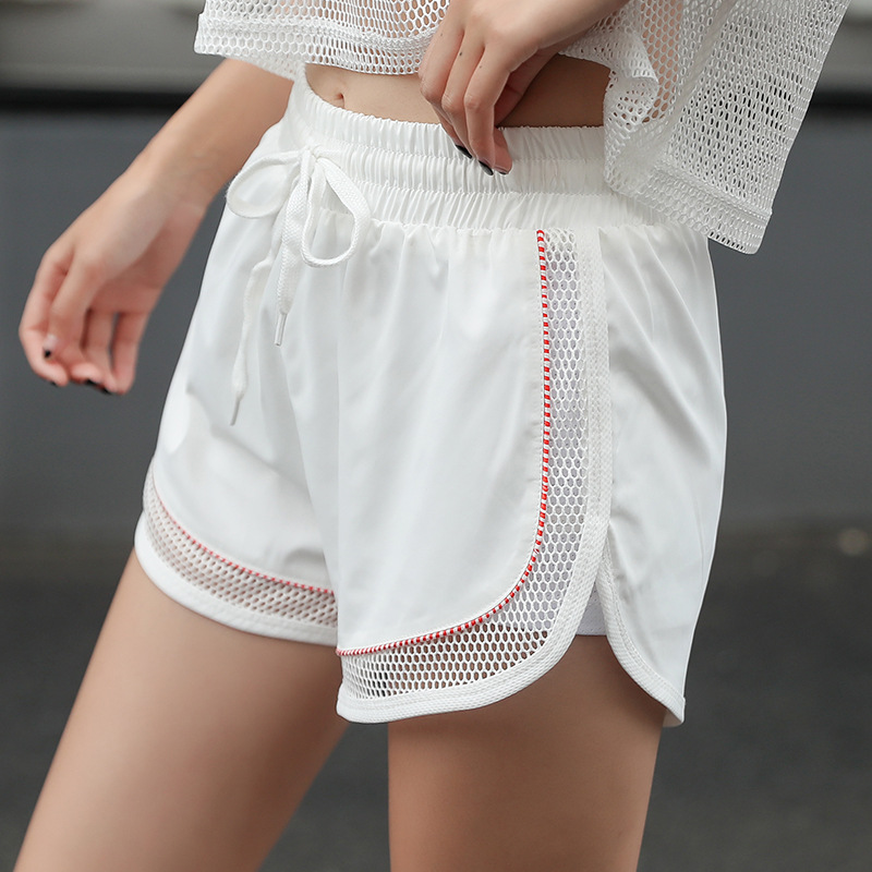 2019 New Sports Shorts Women Wear Skinny Running Fitness Hot Pants Short Feminino  Shorts Women  Sexy Shorts  Mesh Shorts