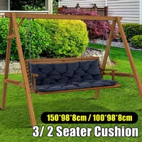 Waterproof Dustproof Chair Replacement Canopy 150CM 3 Seater Garden Swing Cushion Fabric Cover Dust Covers Sponge Chair Cover