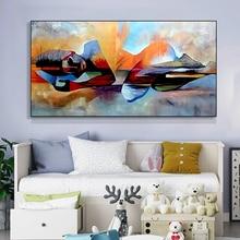 Màu Nước Chúa Hiện Đại Trừu Tượng Tôn Giáo Tay Vẽ Sơn Dầu Cho Tường Phòng Khách Tranh Nghệ Thuật Tranh Canvas