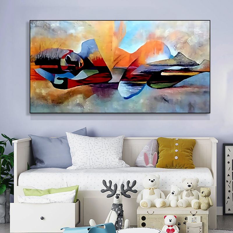 Watercolor Lord Modern Abstract Religious Hand Painted Oil Painting for Living Room Wall Art Picture Canvas