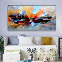 Watercolor Lord Modern Abstract Religious Hand Painted Oil Painting for Living Room Wall Art Picture Canvas Painting