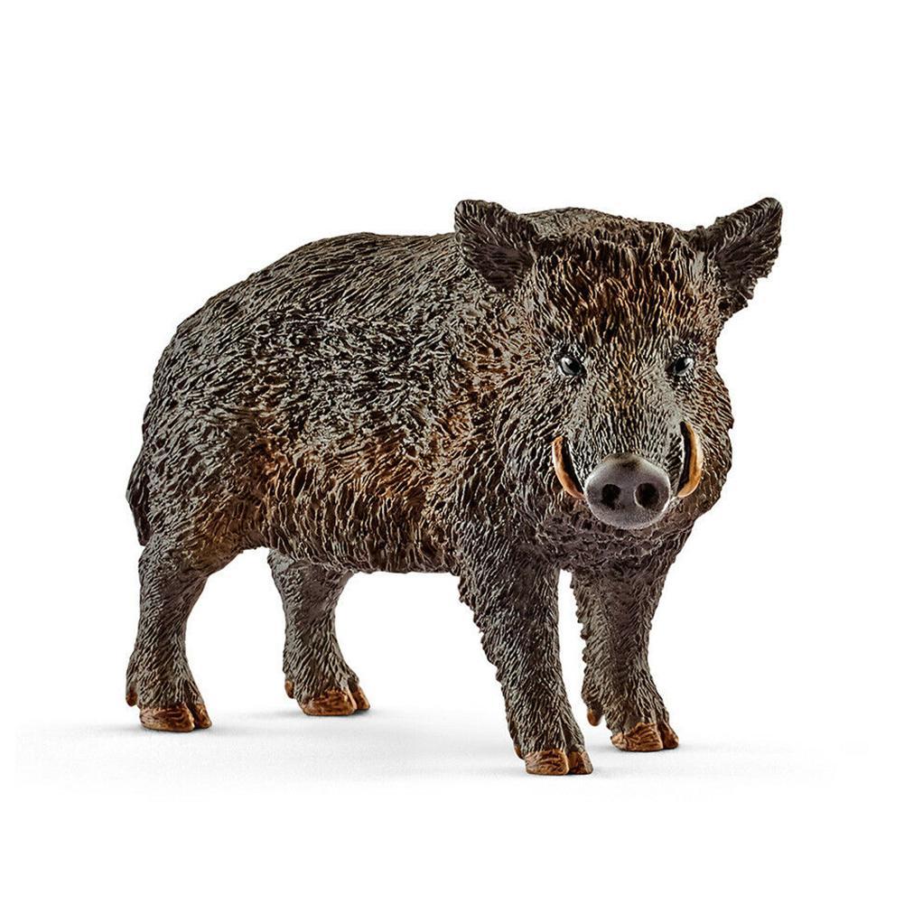 2.8 polegada simulação animais brinquedos vida selvagem javali selvagem estatueta pvc figuras javalis modelo brinquedos 14783 novo