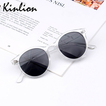 Kinlion Retro Round Kids Sunglasses for Girls Vintage Oversized Boys