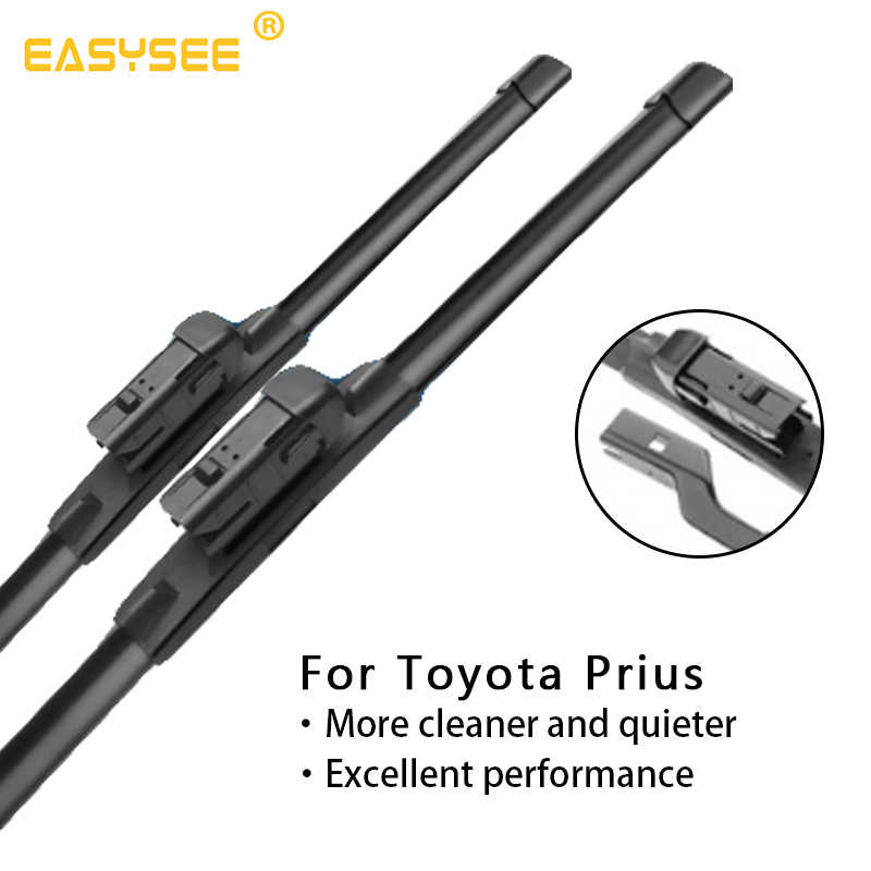 Windscreen windshield wiper blades For Toyota Prius XW10 20 30 50 Fit Hook Arms push button arms Model Year from 1997 to 2018