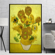 HD Famous Van Gogh Sunflowers Oil Painting On Canvas Posters And Prints Wall Art Picture for Living Room Home Decoration claude monet anemone oil painting on canvas posters and prints wall picture for living room home decoration