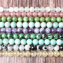 Natural jewelry 4 / 6 / 8 / 10 / 12mm white moonlight Loose beads series suitable for DIY bracelet necklace accessories