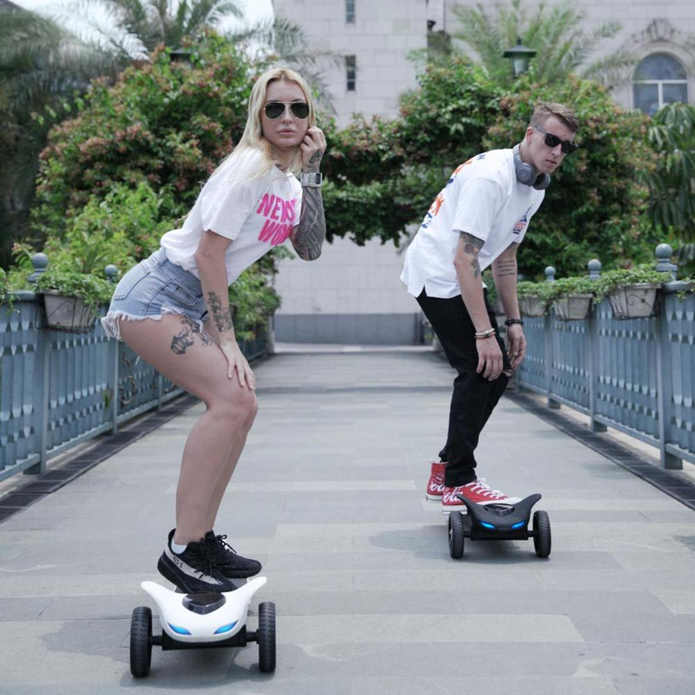 App Smart Electric Scooter Bluetooth Music Scooter With LED Light E-scooter Foldable Hoverboard Patinete Electrico Scooter