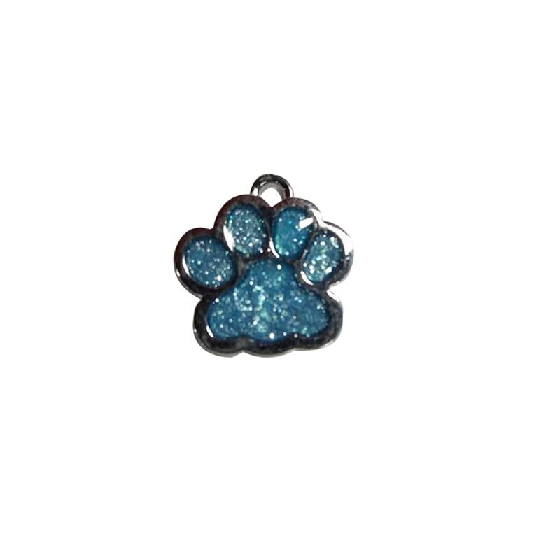 1pc Paw Shape Pendants Pet Dog Accessories Alloy ID Tags Puppy Pet Card Pet Collar Pendant For Pet Cat Dog Supplies 6 Color