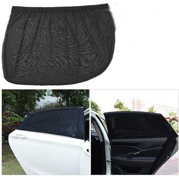 2 sztuk osłona przeciwsłoneczna do samochodu pokrywa ochrona UV perspektywa mesh Velcro uniwersalna osłona przeciwsłoneczna do samochodu boczna szyba samochodowa osłona przeciwsłoneczna akcesoria tanie i dobre opinie GISAEV CN (pochodzenie) UV Protection Shield Sunshade Car Side Window Sun Shade For Universal Of All The Car Black Side Windshield