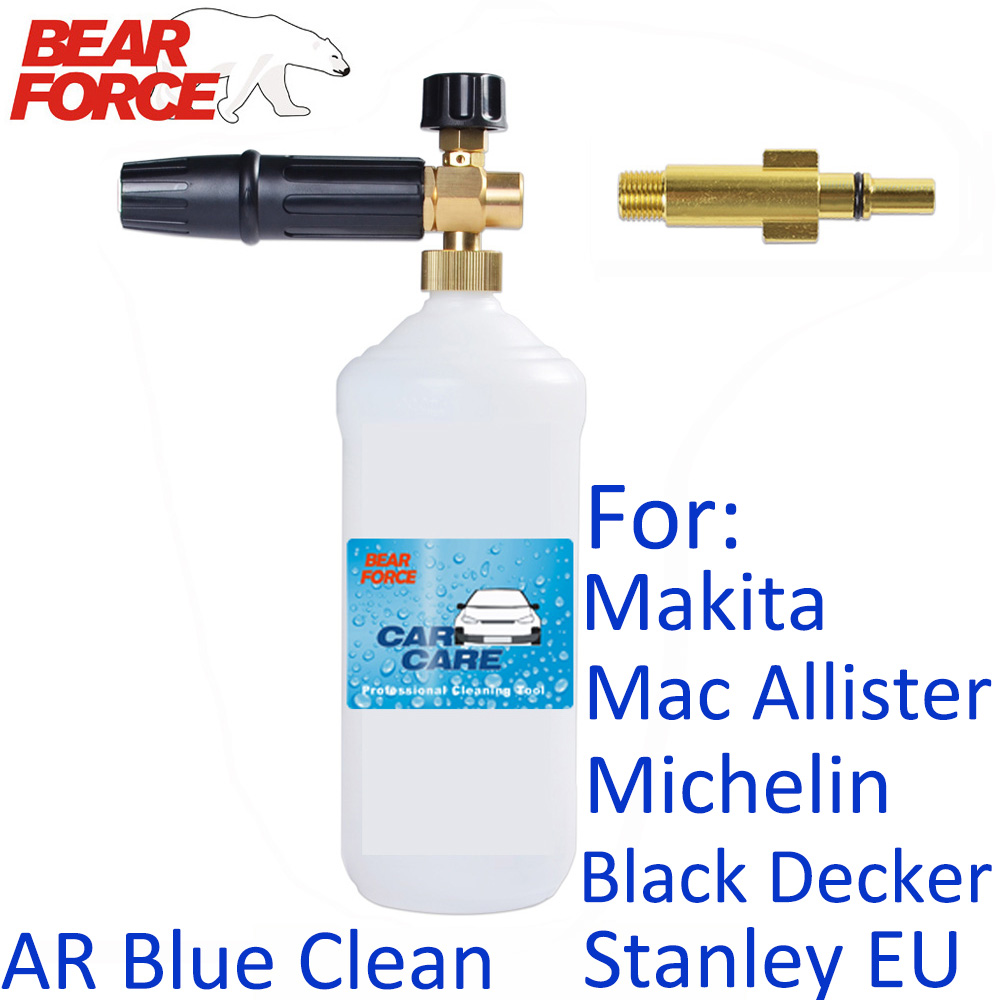 Car Foam Wash Snow Foam Lance Pressure Washer Foam Nozzle For Makita Mac Allister Michelin Black Decker Stanley AR Blue Clean