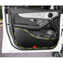 4 шт. автомобильный стильный кожаный защитный коврик для двери, анти-грязный коврик, накладка, наклейка для Skoda Octavia A7