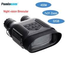 Цифровой бинокль ночного видения NV400B, инфракрасная светодиодная камера, зум 3,5x-7X, миниатюрное устройство ночного видения для ночного виден...