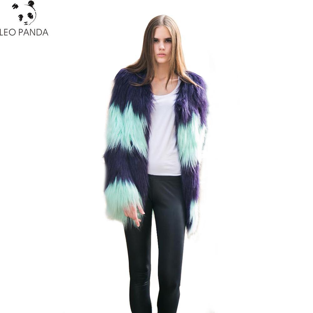 Hiver femmes Long Faux mérinos mouton fourrure veste épais en peluche manteau femelle poilu pardessus moelleux chaud survêtement grande taille 3XL