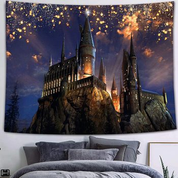 Simsant Mushroom Forest Castle Tapestry Fairytale Trippy Colorful Butterfly Wall Hanging Tapestry for Home Dorm Fantasy Decor 7