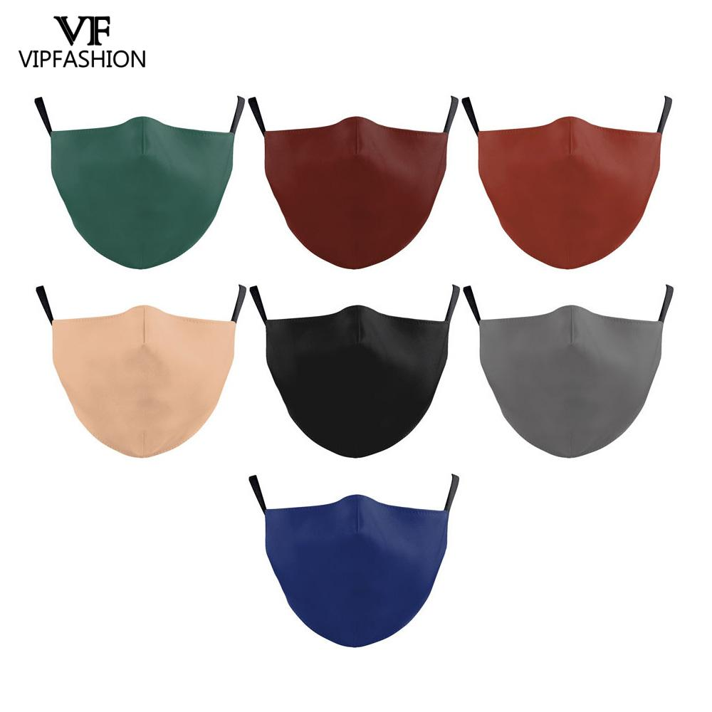 VIP FASHION Mouth Mask Summer Thin Face Masks Protective  Washable Anti-dust Solid Color Mask Dust Proof Washable Anti Flu Mask