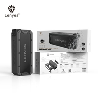 Lenyes 28 Hour Playing Time Music Speakers 40W Heavy Bass Stereo Bluetooth IPX 7 Outdoor Wireless Woofer for Phone Computer S108