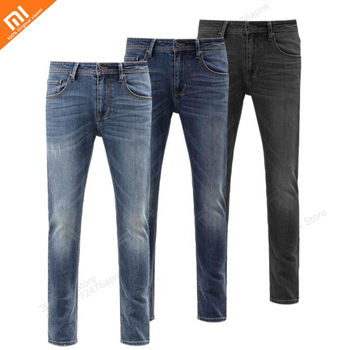 3 colors xiaomi Mijia 90 points soft slim straight jeans high elasticity thin and comfortable jeans high quality
