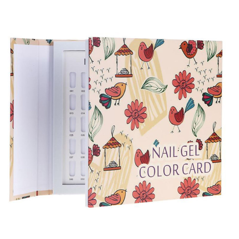 Nail Art Salon 120 Colors Nail Gel Polish Display Card Book Color Board Palette Stand With Nail Tips Salon Show Tools
