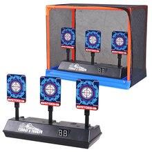 Pistolet de sport de plein air pour enfants, accessoires de bricolage, marquage de haute précision, cible électrique à réinitialisation automatique pour balles nerf