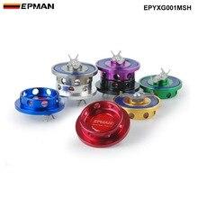 EPMAN заготовка серебряного моторного масляного фильтра крышка топливного бака Крышка для Mitsubishi Jdm EPYXG001MSH