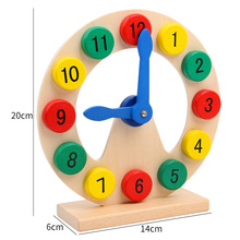 Wooden Childrens Multi-function Building Blocks Clock Intelligence Learning Digital Recognition Time Puzzle Board Toys Gift