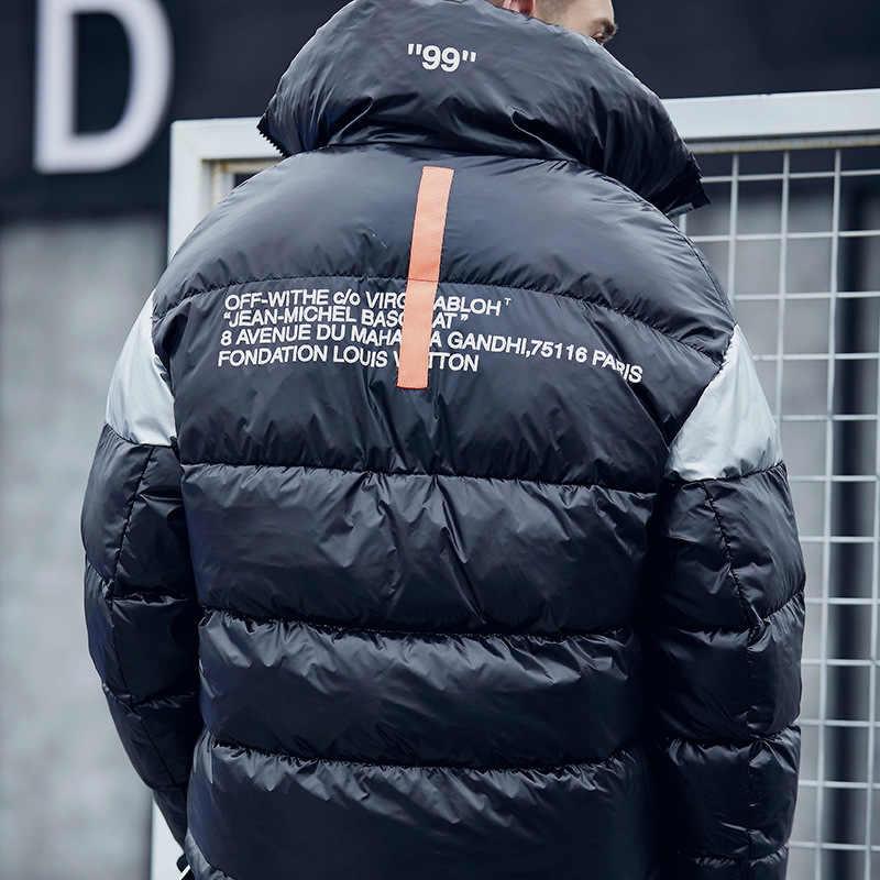 Homens Jaqueta de inverno Casaco Parka Homens Casaco Sobretudo de Algodão Casaco masculino Blusão Espessa Neve Quente Veste hiver homme