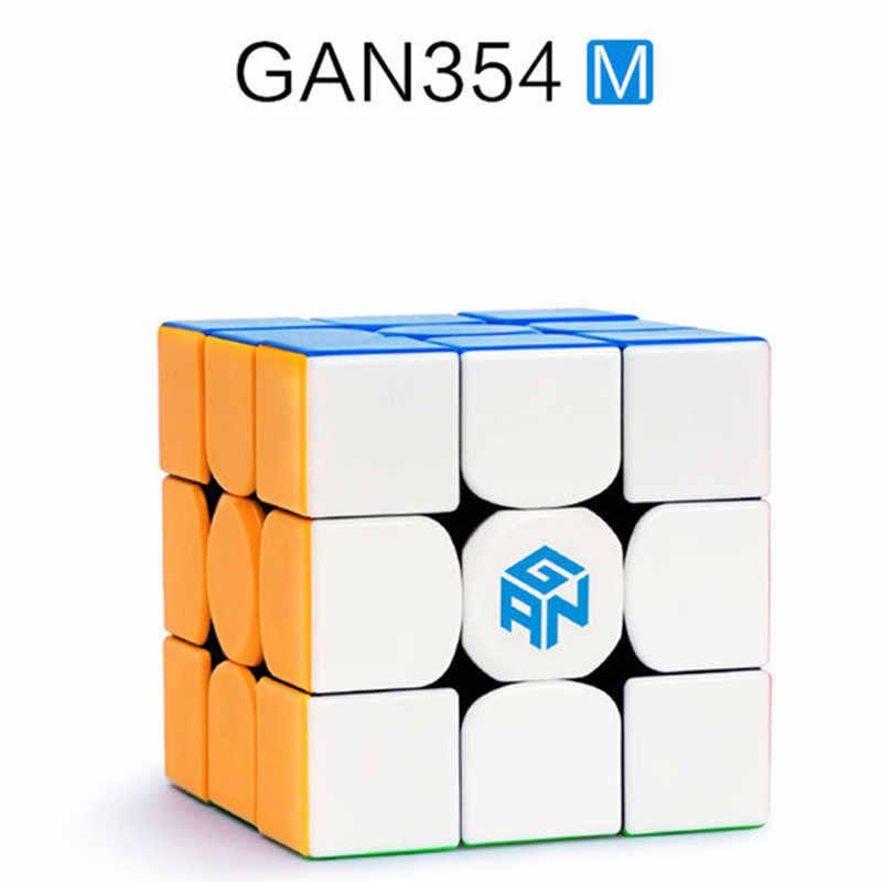 Магнитный скоростной куб Gan 354 M 3x3 3x3, магический куб Gan 3*3, магнитный профессиональный куб-головоломка, игрушки для детей, куб