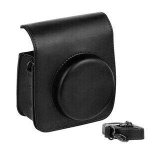 Image 3 - Protective Case Casual Pouch Accessories PU Leather Cover Dustproof Shoulder Strap Crossbody Mini Camera Bag For Instax Mini 90
