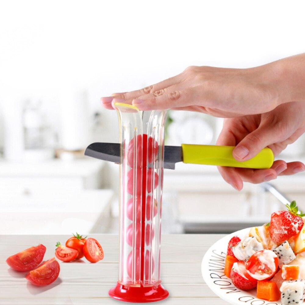 Помидоры резак многофункциональный фруктовый винограда резак Кухня аксессуары для разделитель для фруктов Slicer вишня кроя гаджеты для нару...