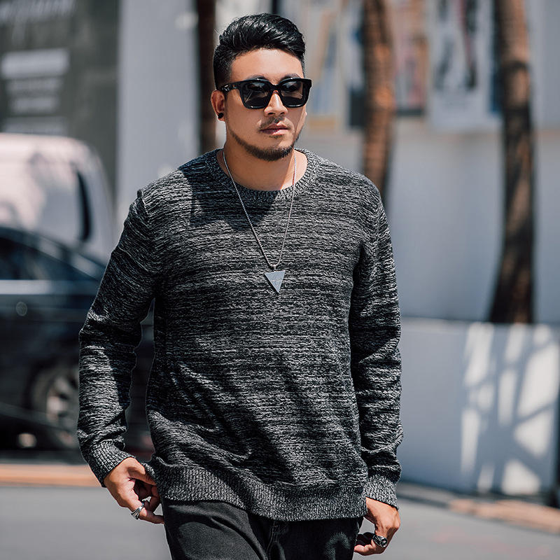 2019 Winter New 5XL 6XL 7XL Plus Size Super Loose Styles Sweaters Men Knitted Pullover Men Big Size XXL-7XL Casual Sweater Men