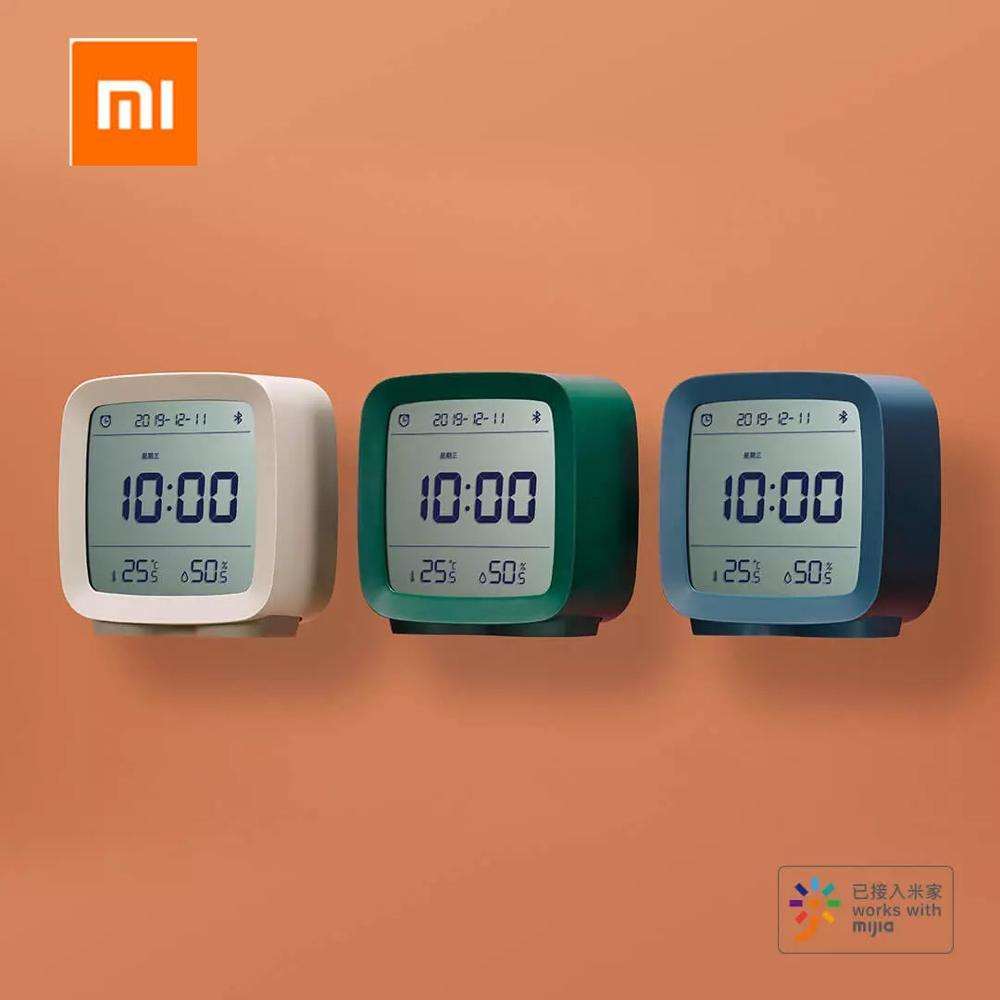 In stock Xiaomi Cleargrass Bluetooth Alarm Clock smart Control Temperature Humidity Display LCD Screen Adjustable Nightlight|Smart Remote Control| |  -