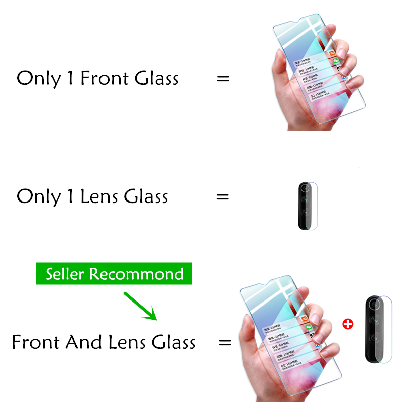 Image 5 - 2 in 1 Lens Tempered Glass On For Xiaomi Redmi Note 7 8 Pro 8T 8A 7A Protective Glass Camera Full Cover Screen ProtectorPhone Screen Protectors   -