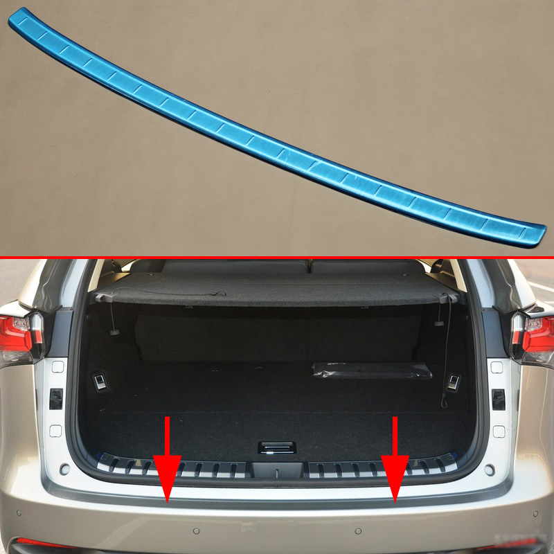 Stainless steel Tailgate Rear Bumper Cover Protector Trim Fit For <font><b>Lexus</b></font> <font><b>NX200t</b></font> NX300h <font><b>Accessories</b></font> <font><b>2015</b></font> 2016 2017 2018 image
