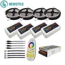 DC12V luz Led SMD 5050 RGBW tira de Led rgbww Flexible cinta + 2,4G RGBW Led controlador + adaptador de corriente 10M 15M 20M