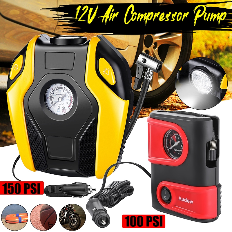 12V 150Psi Car Tire Inflator Or Electric Tire Pump Digital Portable For Car Bicycles And Air Compressor Other Inflator Pump Tool