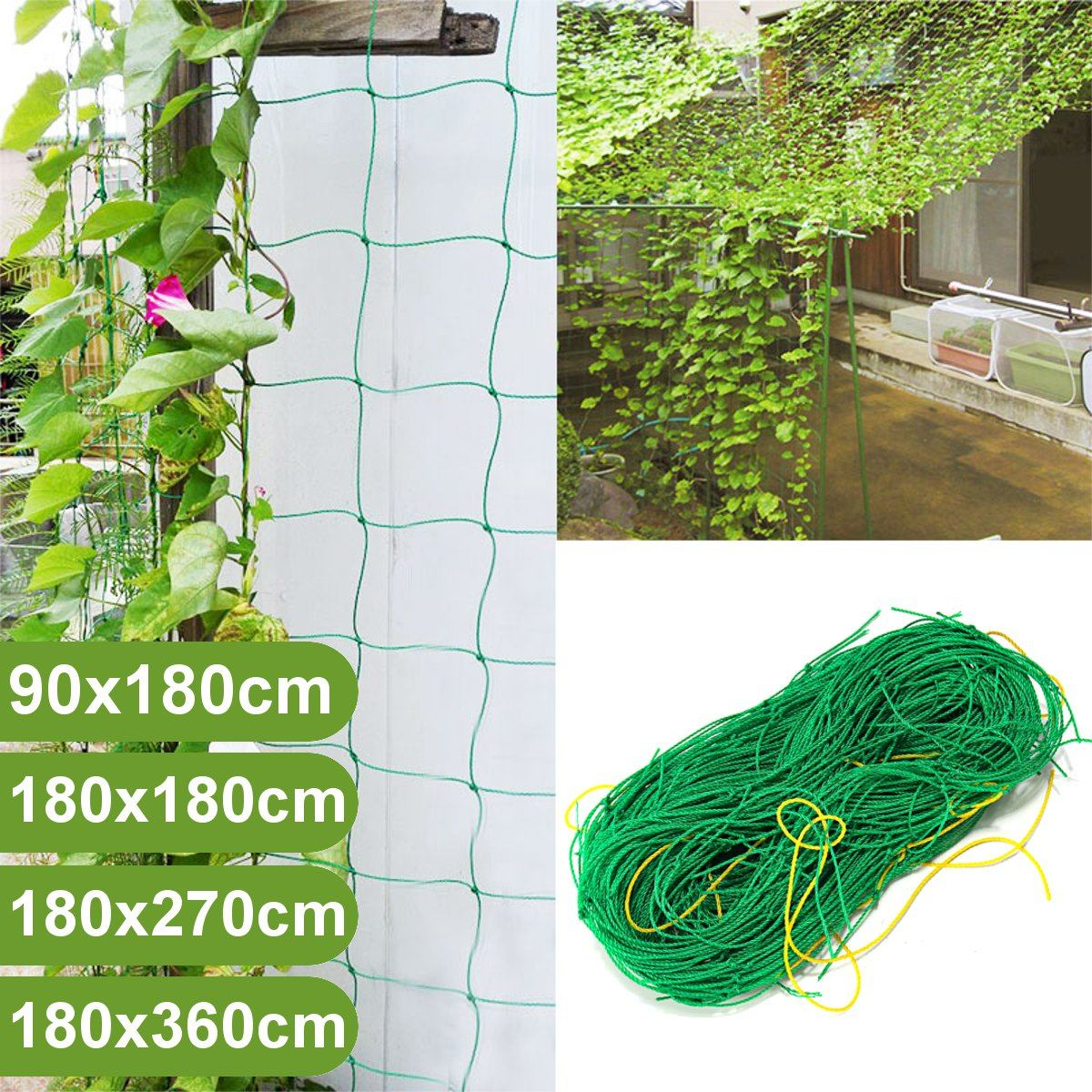 Garden Green Nylon Trellises Net Plant Climbing Support Grow Fence Garden Netting Decoration Plant Support Care Tools 4 Sizes