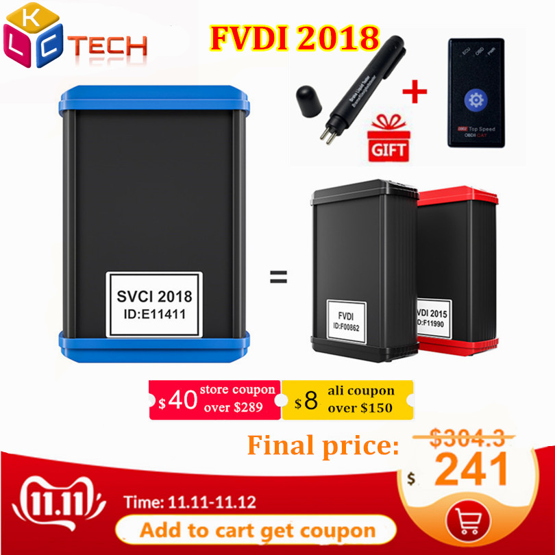 A+ Newly FVDI SVCI 2018 ABRITES Commander With 18 Softwares For Most Cars Avdi ABRITES Scanner Full FVDI 2015 Diagnostic Tool